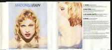 MADONNA Rain RARE AUSTRALIAN 4trk CD Single