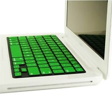 "REDUCE OVERHEAT ! GREEN Silicone Keyboard Cover for Macbook White 13"" A1342"