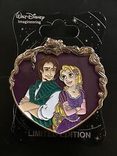Disney WDI Flynn Rider & Rapunzel Valentines Heart Pin Pascal Tangled