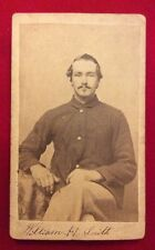 CDV Union Soldier Seated. William H. Smith.