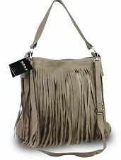 Made in Italy Sac a franges sac Sac En Bandoulière Cuir sauvage Nature