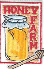 """""""HONEY FARM""""  Iron On Embroidered Applique Patch/Farm, Bees, Honey"""