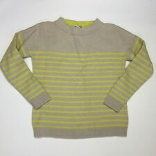 "BODEN ~ ""GUERNSEY SWEATER JUMPER"" BEIGE/YELLOW, WOOL COTTON STRIPED  - SIZE 10"