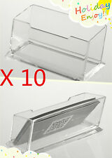10 X Clear Desktop Business Card Holder Display Stand Acrylic Plastic Desk Shelf