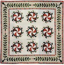 Stove Eye Surrounded Quilt Pattern Pieced/Applique MA