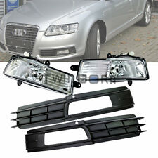 For 2009-2011 Audi A6 C6 H11 55W Fog Light Lamp + Front Lower Bumper Grill Kit
