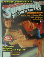 Super Man IV Christopher Reeve 1987 official POSTER MAGAZINE