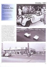 1951 Crosley Article - Must See !! Hotshot + Sport Roadster + Fred Coster