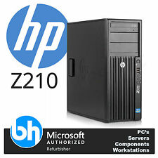 HP Z210 Desktop Tower i5-2400 3.1GHz 8GB RAM 128GBGB SSD 500GB Windows 7 NVS 300