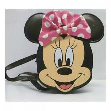 Disney 491507U Minnie Mouse Face Shaped Hand Bag Zippered Closure Kids Fashion