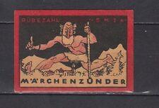 Ancienne étiquette alumettes Allemagne  Rübezahl Conte