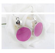 HOT Women Rose red Charm Crystal Ear Stud Earrings Silver Fashion Jewelry