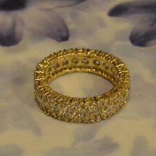 Dolly-Bijoux Fantaisie Alliance T60 Large Eternity 7mm Pavé Diamant Cz