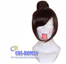 Overwatch Mei Cosplay wig costume brown colour 419C