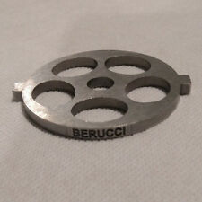 """Berucci Meat Grinder plate disc for FGA KitchenAid Mixer Attachment 5/8"""" holes"""