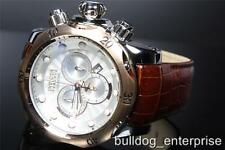Men Invicta Reserve Subaqua Venom Watch Brown Leather White Swiss Chrono New