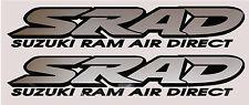 2 x SRAD Suzuki Decals / Graphics / Stickers Silver / Black
