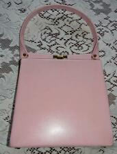 Vintage 1960's Pink Leather Handbag Purse Retro Chic Camelot Jackie-O
