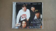 """RAGE AGAINST THE MACHINE """"JUSTIFY THOSE THAT DIE"""" PRO SOURCED SILVER DISC CD NEW"""