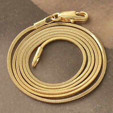 Classic 9K Yellow Gold Filled Womens Snake Chain Necklace 500*2mm F5004