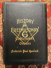 HISTORY OF FREEMASONRY AND CONCORDANT ORDERS - GENUINE LEATHER BINDING