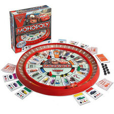 DISNEY PIXAR MONOPOLY LIGHTNING McQUEEN CARS RACETRACK CARDS KIDS BOARD GAME
