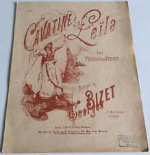Cavatine de Leïla Les pêcheurs de perles Georges Bizet / Royer partition