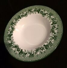 Wedgwood Kent Green Williams Sonoma Two Soup Bowls