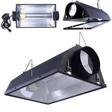 "6"" Air Cooled Hood Reflector  Hydroponics Light Grow Hydroponic W/ Glass Cover"