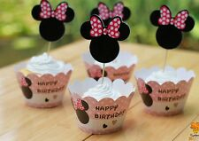 Cupcake Cup Cake Decorating,Toppers Wrappers PARTY DECORATION, Minnie Mouse