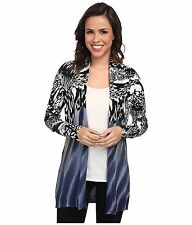 NWT NIC + ZOE WOMEN SzS MINERAL WASHED CARDIGAN SWEATER IN MULTI $144.