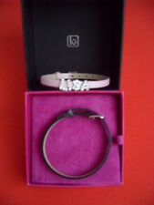 Kit Heath bracelets black & pink with removable diamante letters LISA for either