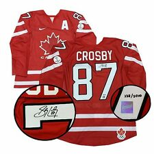 Sidney Crosby Team Canada Signed Game Model 2010 Olympic Hockey Jersey L/E 2010