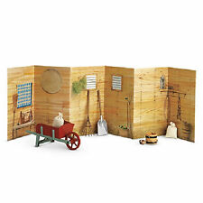 "American Girl FELICITY STABLE SET DAMAGED BOX for 18"" Dolls Barn Background NEW"