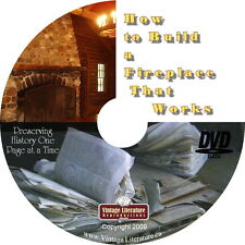 How To Build Fireplaces That Work { 1913 Plans and More } on DVD