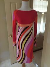 NWT Emilio Pucci IT 38 US 2-4 silk multicolor dress $ 1990 with belt