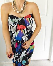 COOPER ST DESIGNER BUTTERFLY PRINT DRESS SZ 12