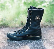 SCARPE CONVERSE PELLE - ALL STAR CHUCK TAYLOR SHOES LEATHER SZ 3.5/36 BLACK S92