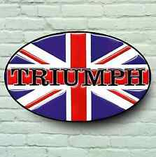 TRIUMPH LOGO 2FT LARGE GARAGE SIGN PLAQUE CLASSIC ROCKET DAYTONA TIGER ROADSTER