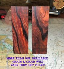 CANTINS EXOTIC COCOBOLO  KNIFE HANDLE SCALES/BLANKS-CRAFT WOOD CRAFTS---SET 100X