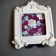 AZZURE HOME PICTURE FRAME NWT BAROQUE DISTRESSED  BONE 3X3 PHOTO WALL OR TABLE