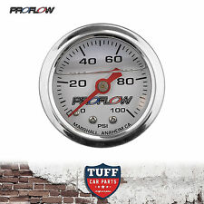 Proflow 0 - 100 PSI Liquid Filled Fuel Pressure Gauge 1/8 NPT PFEFG100LF New