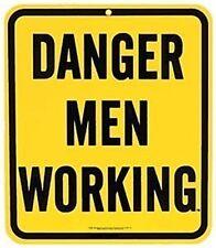 Magneto para Neveras, Acero Esmaltado, Diseño Peligro Hombres Trabajando (ar)