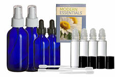 Essential Oil Bottle Set Roller, Dropper, Spray Blue Glass Young Living Doterra