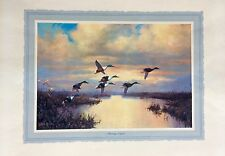 WILFRED BAILY ORIGINAL BROWN AND BIGELOW LITHOGRAPH NATURE WILDLIFE ART