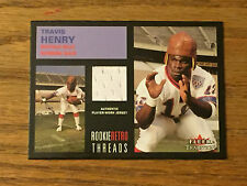 2001 Fleer Tradition TRAVIS HENRY Game Used Jersey Relic Football Card