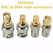 4x BNC to SMA Type Male Female RF Connector Adapter Test Kit Converter Set