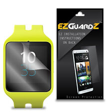3X EZguardz LCD Screen Protector Skin Cover Shield HD 3X For Sony Smartwatch 3