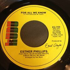 Esther Phillips: For All We Know / Fever 45 - Soul