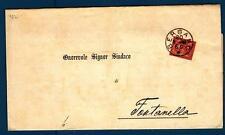 ITALIA - Regno - 1888 - Da Bergamo a Fontanella - 2 c. - Cifra con ornamenti in
